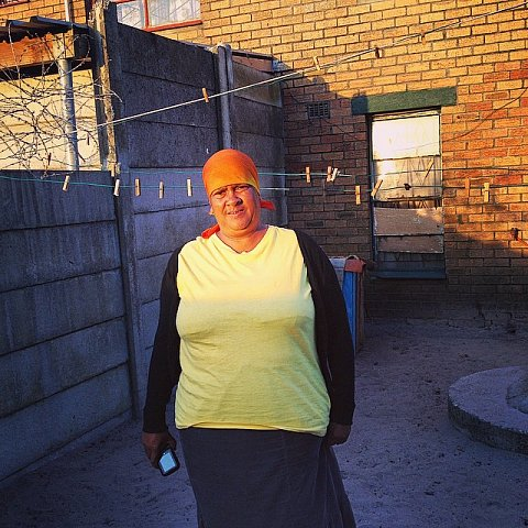 Lawouna, 52 years old, has been in Manenberg 45 years. SS: What does Manenberg mean to you? L: Manenberg is like a gold mine. It's a lovely place, it's just that the people haven't got laughter for each other. SS: How have the gangs impacted your life? L: One son, Gershwin, is 25 years old and a Hard Living. My other son, Leroy, is 26 years old and a Dixie Boy. They live like 2 dogs in the house -- they don't see eye to eye. #southafrica #capetown #africa #manenberg #lovefrommanenberg #gangs #mother