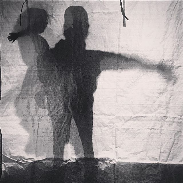 Ben & Errol @photovillenyc. @bgancsos @bryansleeper #shadows #play #brooklyn #newyork #usa #night
