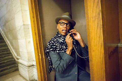 "RuPaul is given a tour of the New York Public Library in New York, New York before joining Paul Holdengraber on stage for LIVE from the NYPL on March 20, 2015. <br> Published in <a href=""http://www.slate.com/blogs/outward/2015/03/24/rupaul_at_the_nypl_paul_holdengraber_interviews_the_drag_queen_star.html"">Slate.</a>"