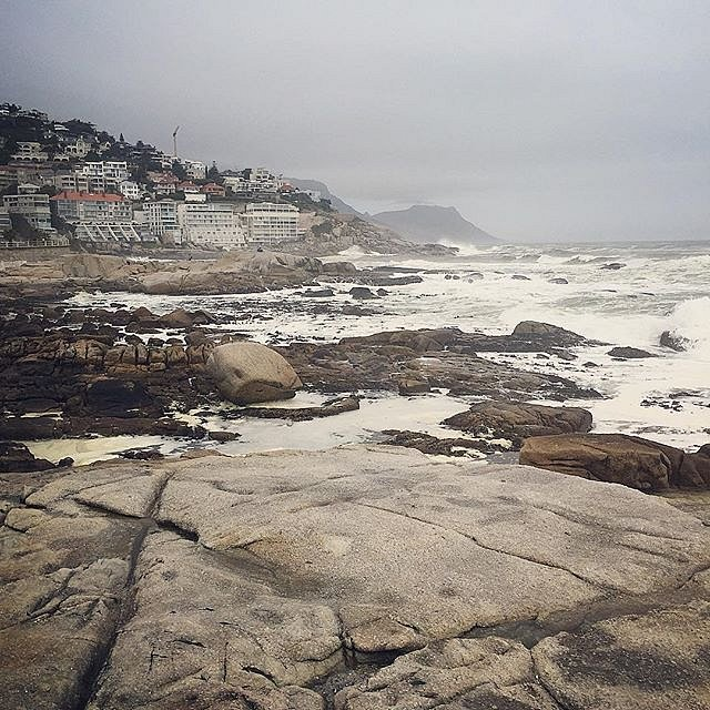 Beautiful, stormy evening for a run in Cape Town. #seapoint #capetown #southafrica #run #sea #storm