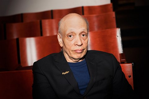 "American novelist Walter Mosley at Cooper Union in New York, New York before telling a story at a Moth event called ""Shot Through the Heart: Stories of Beaus and Arrows."" February 10, 2011."