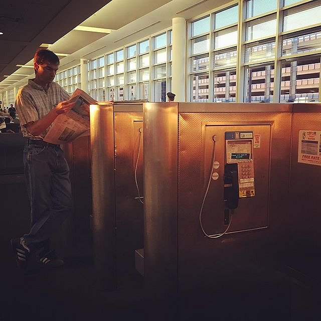 #7amflight #morning #airport #msptojfk #phonebooth #paper
