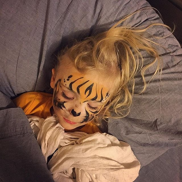 After more than 4 weeks on the road, I am beyond happy to kiss this little one goodnight. #errol #family #peace #minnesota #lakeminnetonka #tiger