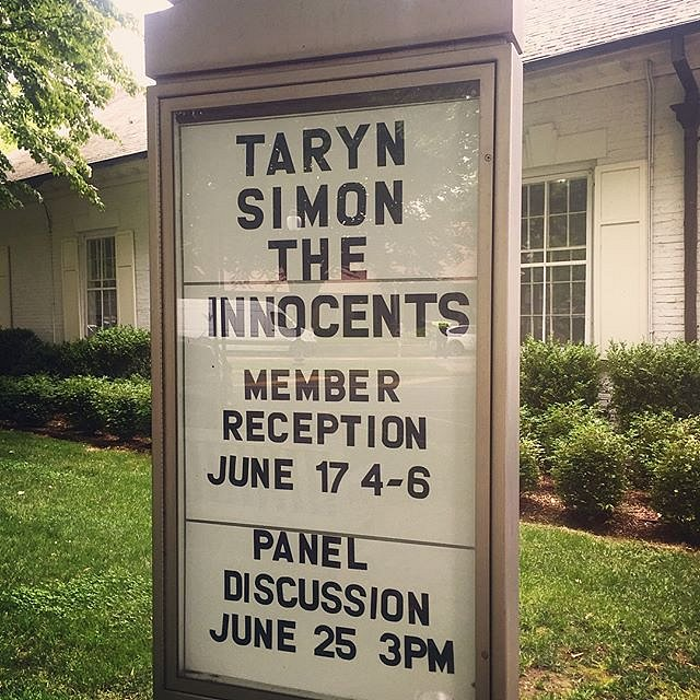 """""""The Innocents,"""" some of Taryn Simon's earliest work, is pretty damn powerful. #guildhall #eastend #newyork #opening"""