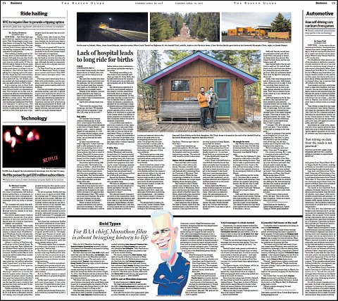 """""""Many miles from care"""" <br>Photographs published April 18, 2017. <br>  <a href=""""https://www.statnews.com/2017/04/17/rural-health-delivery-babies/"""">View Article</a>"""
