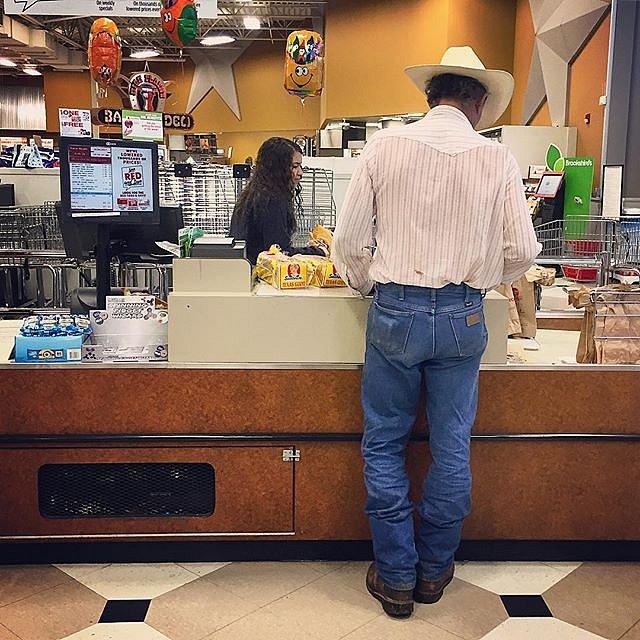 #texas #hurricaneharvey #grocerystore #cowboy