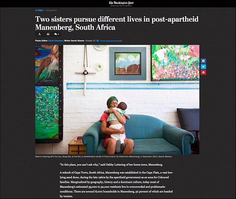 """""""Two sisters pursue different lives in post-apartheid Manenberg, South Africa"""" <br>Photographs and text published October 13, 2017. <br>  <a href=""""https://www.washingtonpost.com/news/in-sight/wp/2017/10/09/manenberg/?hpid=hp_hp-visual-stories-desktop_no-name:homepage/story&utm_term=.03cdacfecd60"""">View Article</a>"""