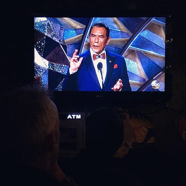 Actor Wes Studi representing Cherokee people at the Academy Awards. Studi, a veteran of the Vietnam War, introduced a montage about military movies at the Oscars. He ended his speech in the Cherokee language. #moreofthisplease #twentyfirstcenturycherokee