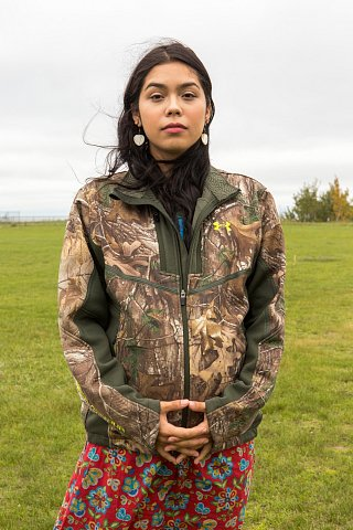 Sara Seki-Mountain, 21, is Ojibwe and a member of Red Lake Nation in northern Minnesota. Seki-Mountain works with the Food Initiative, a program whose goal is to bring food sovereignty to the Red Lake Indian Reservation. <br>September 2017.