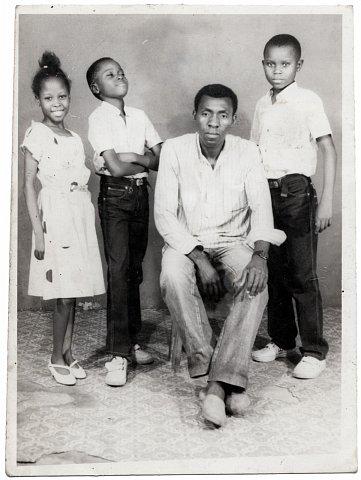 Luc-M'VULA, Nelly's Uncle. Photograph by Lema Mpeve Mervil of Studio Photo Less. Kinshasa, D.R.C., c. 1985.