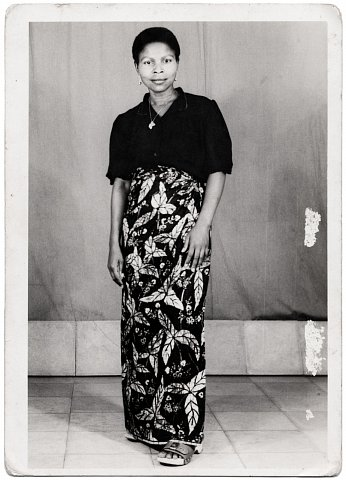 A friend of Nelly's. Photograph by Lema Mpeve Mervil of Studio Photo Less. Kinshasa, D.R.C., c. 1981.