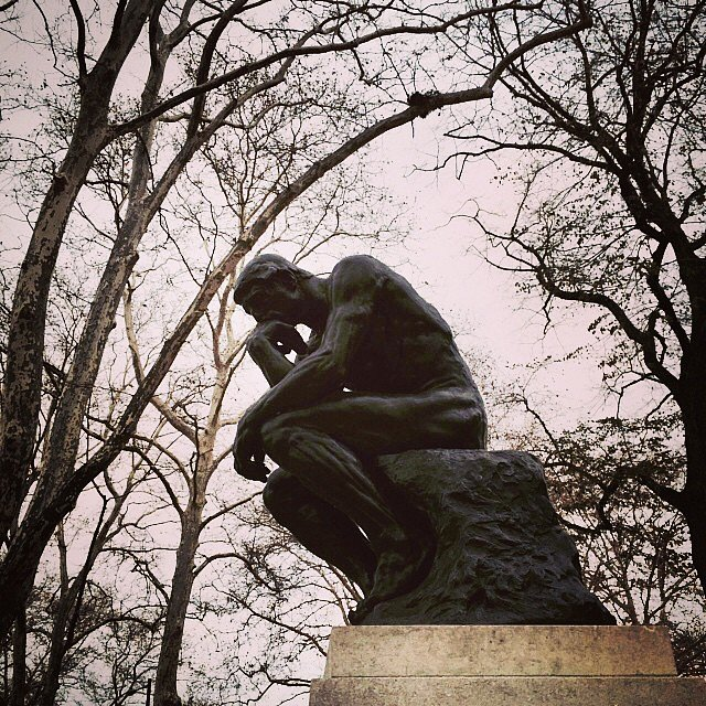 Recognize this guy? #rodin #philly #usa #weekend #family #laststop #thinker