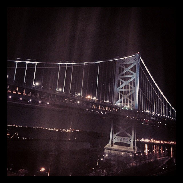 Philly! #weekend #family #philadelphia #pennsylvania #usa #bridge #roomwithaview #benfranklin