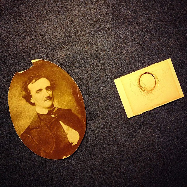 Yes, that is a piece of Edgar Allen Poe's hair. #spooky #onassigmnent #nypl #newyork #usa #awe