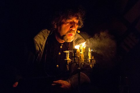 """Neil Gaiman in conversation with Paul Holdengraber at the New York Public Library in New York, New York. October 31, 2014. <br> Published in <a href=""""http://www.vulture.com/2014/11/neil-gaimans-halloween-with-dickenss-dead-cat.html#"""">Vulture</a> and <a href=""""http://nerdist.com/neil-gaiman-joked-about-burning-down-the-nypl-everyone-was-charmed/"""">Nerdist.</a>"""