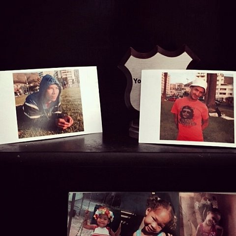 Photos I made of Shane and Ashwin on display in Shane's living room. Shane and Ashwin grew up together and were best friends. Ashwin was killed on 12/21/14. #capetown #manenberg #lovefrommanenberg #southafrica #africa #archive