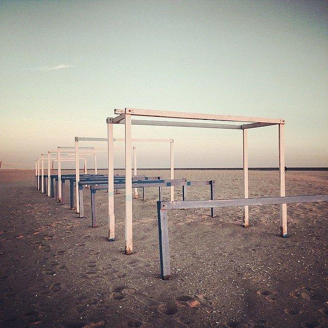 Evening walk on the beach.