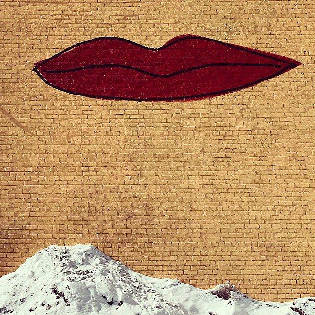 #family #weekend #kingston #newyork #hudsonvalley #valentines #kiss #snow #36hours