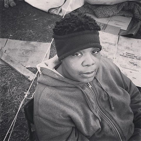 "Lakiela King's 19-year-old son Teven King was one of five protesters shot by masked men last night in North Minneapolis. ""I'm still out here on the battlefield,"" says King. ""I came out here to support, but I'm going back to the hospital tonight."" #blacklivesmatter #releasethetapes #minneapolis #minnesota #protest #jamarclark"