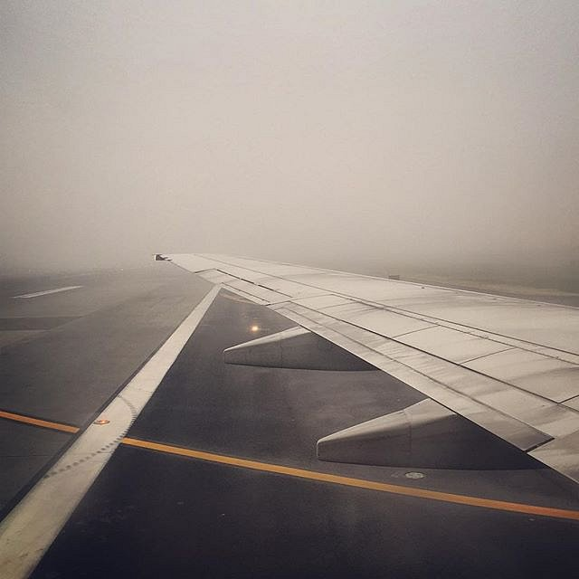 I find there's an over abundance of airplane shots on Instagram, but I couldn't resist the sight of this foggy morning landing, which is a perfect match for my mood. #newyork #usa #airplane #theplaceswecallhome #jfk