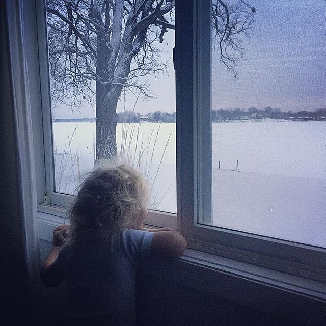 Errol woke up to his world filled with snow. This is the Minnesota I remember. #snow #lakeminnetonka #minnesota #usa #errol #childhood