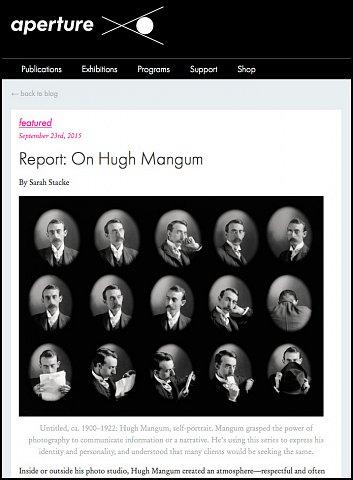 """Report: On Hugh Mangum"" <br>Writing Published September 23, 2015. <br>  <a href=""http://aperture.org/blog/report-hugh-mangum/"">View Article</a>"