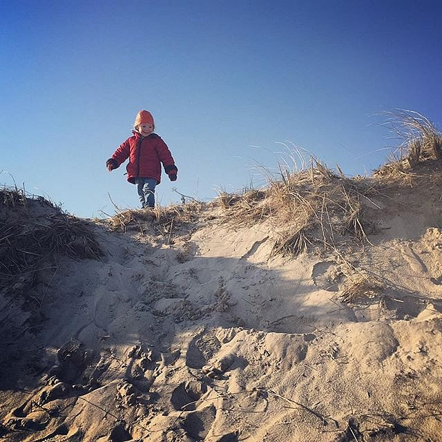 Adventures of a two-year-old. #family #errol #eastend #beach #dunes