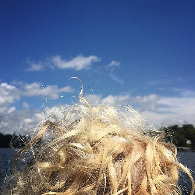 #ontheboat #cabintime #errol #family #curls #minnesota #midwest #summer #peace