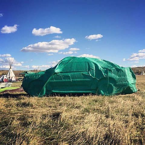 The wind is relentless today in Sacred Stone camp. #northdakota #standingrocksioux #NoDAPL