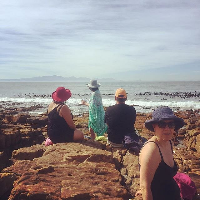 The start of a brilliant day. #southafrica #capetown #kalkbay #hats #swiminthesea