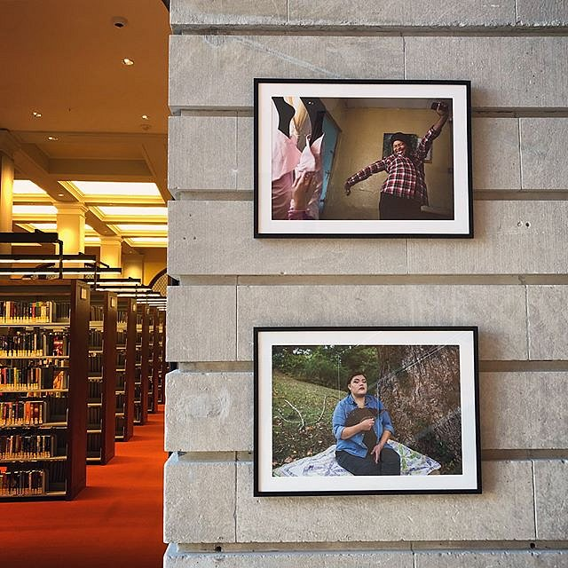"""In Forced Geographies"" is on view at the beautiful Slover Library in Norfolk, VA. The exhibition looks at daily life in Manenberg, South Africa and Cherokee, North Carolina, two communities whose geographic borders were forcefully changed during periods"