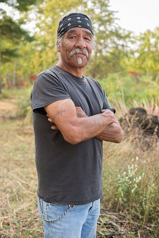 Darrell Geshick, 64, is Ojibwe and a member of Red Lake Nation in northern Minnesota. He works with the Red Lake Local Food Initiative as gardener. <br>September 2017.