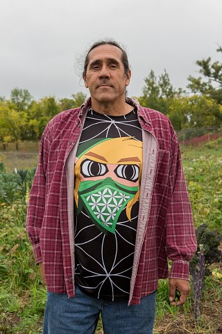 David Manuel, who is Ojibwe and a member of Red Lake Nation, is the Foods Initiative Coordinator on the Red Lake Indian Reservation in northern Minnesota. <br>September 2017.