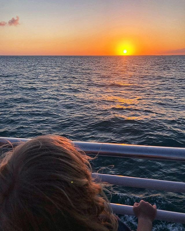 Ok, Yea. I went to Key West and made a sunset pic. That's Errol taking it all in. I'm lucky - and grateful - I can help make the world a bigger place for my kid.