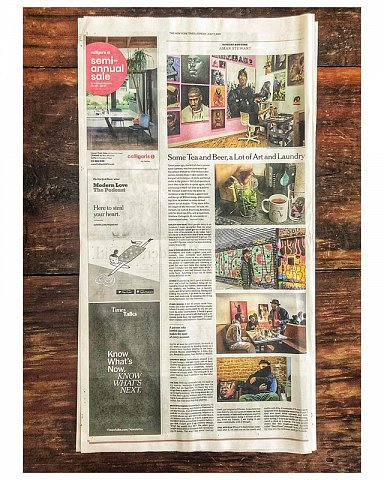 A fantastic Sunday spent with the kind and talented @amarstewart. Thank you @andrewhinderaker for the great assignment.  Sunday Routine, July 7, 2019 #nytassignment  #nyt #newyork #brooklyn #williamsburg  #bushwick  #cancersurvivor  #sundayroutine #nytmetro #hiphoppainter #artistprofile