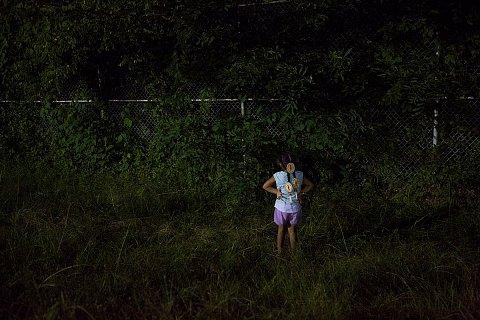 Chasing fireflies. <br>Cherokee, North Carolina, June 2018.