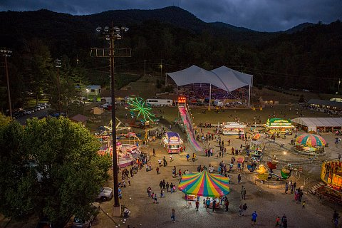 The 104th Annual Cherokee Fall Fair. The centuries-old event attracts tourists, but is first and foremost a gathering of Cherokee families and elders. <br>Cherokee, North Carolina, October 2016.