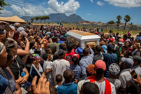 Rashied Staggie was assassinated on December 13, 2019. Staggie founded the Hard Livings gang in Manenberg with his twin brother, Rashaad, in 1971. The Hard Livings are the largest and most notorious gang in Cape Town. It's hard to overstate how critical the Staggie's have been to the culture of Manenberg. They are heroes to many, but nearly everyone can trace the violence in their lives to the Staggies. <br>Manenberg, December 2019.