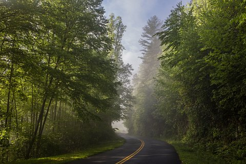 The Qualla Boundary marks the southern edge of the Blue Ridge Parkway, which runs for 469 miles through Virginia and North Carolina. When European explorers first arrived in North America, Cherokee lands covered a large portion of what is now the southeastern United States. <br>May 2018.