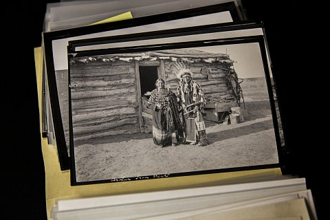 The photographs of Frank Cundill, a homesteader and politician, are housed at the Timber Lake and Area Historical Society in Timber Lake, a small community on the Cheyenne River Reservation. Originally from Iowa, in 1911 Cundill joined the migration of people settling the newly opened Cheyenne River Reservation. March 11, 2021.