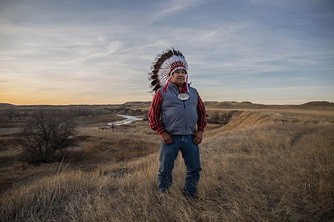 """Cheyenne River Chairman Harold Frazier says the hardest thing about the pandemic for his people has been not being able to see family. """"The basis of our culture is family and it's really taken a toll on a lot of people,"""" he says. March 4, 2021."""