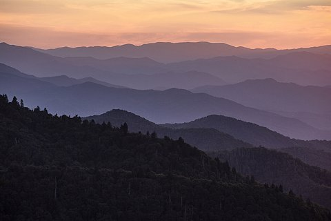 In the early 2000s, the Eastern Band of the Cherokee Indians (EBCI) swapped land they owned near Waterrock Knob off the Blue Ridge Parkway for land adjacent to the Qualla Boundary, home of the EBCI, that was owned by the Great Smoky Mountains National Park. The tribe used the newly acquired land, called the Ravensford Tract, to build state of the art schools for its members. Watterrock Knob is one of the most popular destinations on the Blue Ridge Parkway. On clear days, Harrah's Cherokee Casino Resort, located on the Qualla Boundary, can be seen from the parking lot of Watterrock Knob. September 21, 2020.